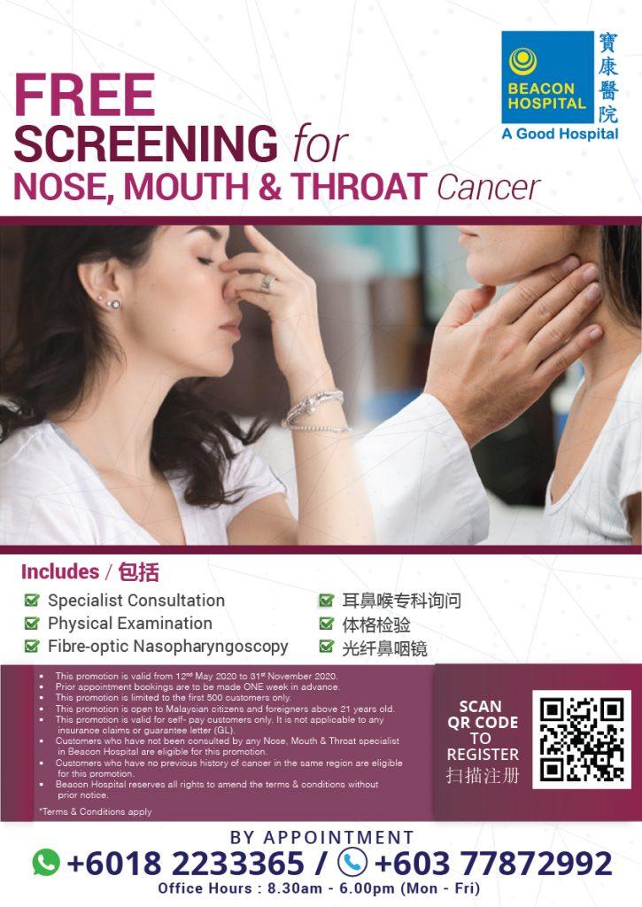 Pemeriksaan Gratis Untuk Kanker Hidung, Mulut dan Tenggorokan | Beacon ...